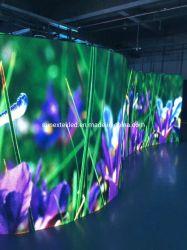 المنحنى تصميم مرحلة الحفلات الموسيقية عالية الكثافة تأجير داخلي الألومنيوم P2.976 شاشة LED لعلامة لوحة الإعلانات