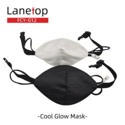 Luz de LED de Fibra Óptica Fabric Cool Personalidade Máscara exigível o Dia das Bruxas parte da Vela Aquecedora KTV Props Anti-Dust Máscaras Faciais