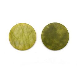 Kleber-Halter-Jade-Stein des Großverkauf-5cm runder rosafarbener für Wimper-Extension