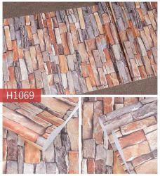 Venta caliente de ladrillo rojo barato de la pared de piedra de arte decorativas autoadhesivas de PVC para imprimir papel de la pared de inicio