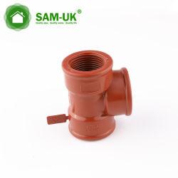 Rosca de plástico de alta presión de la HPP accesorios de tubería en T BSP
