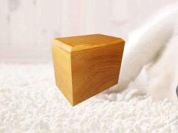 Graver au laser mots personnels à la crémation de suivi en bois de chêne Pet cendres Urne Boîte