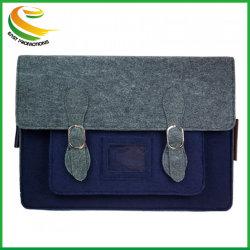 ウールのフェルトのラップトップ袋11 13 15本の袖のノートのメッセンジャーのショルダー・バッグ