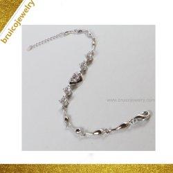 Nuevo diseño 925 cristal de color plata Rodio Brazalete de joyería de oro con encanto para damas