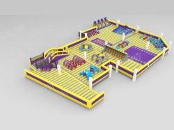 Большое желтое внутри надувной игровой площадкой для Fec Chob1164