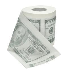 precio de fábrica gracioso la impresión de papel higiénico de lujo