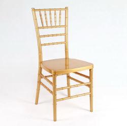 Gold Wedding Morden Furniture Polycarbonaat Resin Chiavari Stacking Chair