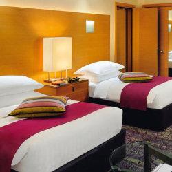 Современная деревянная MDF гостиная Queen кровати отеля мебель