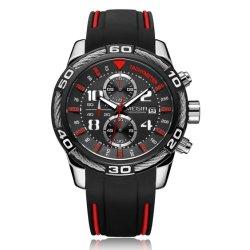 Megir quente moda masculina Relógios de quartzo Chornograph Analógico Relógio Homem à prova de silicone disponível