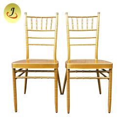 Stapeln des Metallhotel-Gaststätte-Bankett-Hochzeits-Stuhl-Tiffany-Stuhls/des Chiavari Stuhls