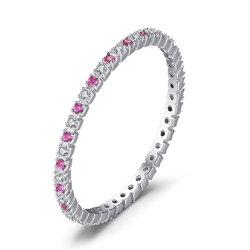 Ronda requintados casamento anel de banda 925 Libra Esterlina jóias de prata acessórios de outros fabricantes