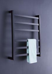 까만 사각 관 수건 온열 장치 가로장 전기 격렬한 수건 방열기