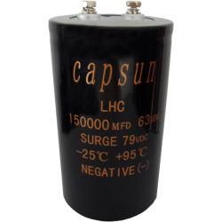 공장은 63V150000UF 축전기, 상한 자동 오디오 제품, 전해질 축전기 Capsun 알루미늄 본래 확실하를 판매한다