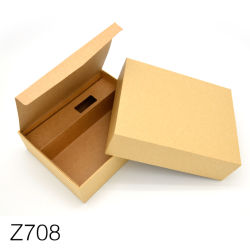Z708 горячая продажа продуктов питания Kraft коричневого цвета и подарки упаковка бумаги в салоне с системной платы Handlehard Логотип Kraft картона картонная коробка для упаковки