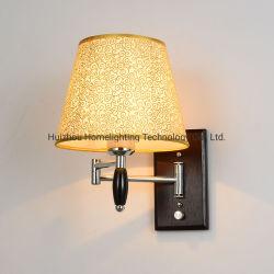 Jlw-14932 Hotel Home Chambre moniteur de chevet en bois de bras de pivotement réglable wall lamp