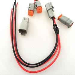 El conjunto de cables de la Deutsch DT06-2S receptáculo con W2s Wedgelock 1062-14-0122 Sockets