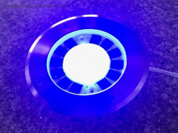 太陽エネルギーLEDライト、円形の地下ライト、パスの景色のデッキライト