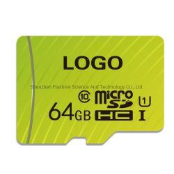 Commerce de gros de la carte mémoire Ultra Haute Vitesse Mobile Support de carte de téléphone d'imprimer votre Logo TF carte Micro SD