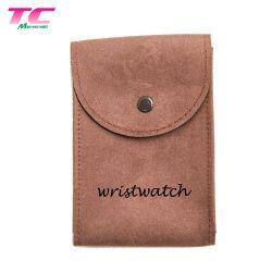 Royal Custom Branding Kunstleder Geschenktaschen für Schmuck, personalisierte gestempelte Logo Wildledertasche mit Druckknopf