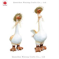 Commerce de gros canard de jardin en résine Goose Farm Home Decor Cadeaux