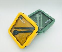 Reizender beweglicher Mittagessen-Kasten-praktischer beweglicher Kasten-Frucht-Plastikkasten mit Salat-Kasten