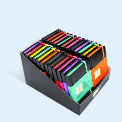 Qualitäts-Ausgabe-bunter Rand-Notizbuch-Buch-Kasten-gesetzter Druckservice