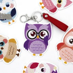 Förderung-Geschenk DIY scherzt Spielzeug AcrylKeychain Eulen-kreatives Spielzeug