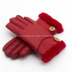 양 모피 Leather Ski Gloves 판매 가을 겨울 중국 최신 숙녀