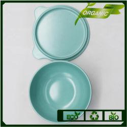 La vaisselle en grès imprimé personnalisé de gros de fibre de bambou vaisselle