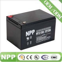Batteria al piombo sigillata 12V12ah, batteria autoalimentata 12ah della lampada di soccorso della batteria 12V del Npp VRLA e batteria ricaricabile dell'automobile del giocattolo