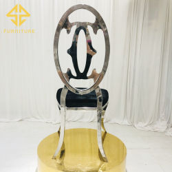 고급스런 디자인 꽃등재 스테인리스 스틸 다이닝 의자 호텔 가구 결혼식 이벤트가 사용되었습니다