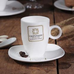 Porzellan-Kaffeetasse-Porzellan-Cappuccino-Cup und QuadratSaucer