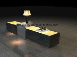 Het houten Kabinet van de Vertoning met Glas op Bovenkant