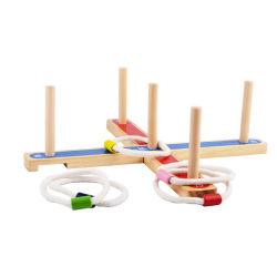 Anel de madeira Toss Yard brinquedo de jogos para crianças de 2 anos até a aprendizagem escolar Piscina Quintal jogo desportivo para crianças pré-escolares bebê meninos e Girlseasy para montar