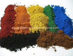 2020 Hot Sale rouge/jaune/noir/brun/Vert/Bleu/Orange Oxyde de fer (Fe2O3) 96 % de pigments