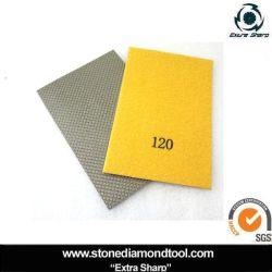 Carta abrasiva abrasiva a diamante con tampone a mano in grana 120 n.