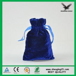 Les petits sacs de bijoux de velours de la taille de fait sur mesure Design Logo
