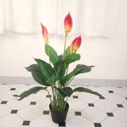 Une fleur artificielle de la Chine fabricant de gros de plantes bonsaïs Cheap usine Anthurium artificiel