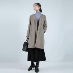Jaqueta de moda casual feminina vestuário elegante Casaco de lã de Manga Longa