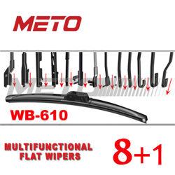ماسحة الزجاج الأمامي المسطحة، شفرة ماسحة السيارة ذات الضوء الناعم ذات الإطار (WB-610)