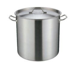 Compound Bottom를 가진 키 큰 Stainless Steel Stock Pot
