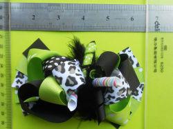 Ruban de Leopard sèche Bow avec matelas de plumes