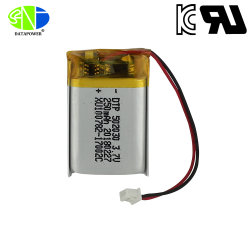 На заводе UL Kc CB перезаряжаемые батареи Lipo 3,7 502030 250 Мач литий-полимерную батарею для наушников Bluetooth