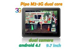 Pipo Max M2, 3G 태블릿 PC 9.7인치 IPS Rockchip Rk3066 듀얼 코어 1.6GHz Android 4.1 RAM 1g ROM 16GB Bluetooth 듀얼 카메라, AAC 스피커 2개