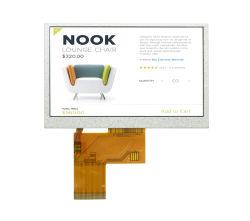 反射防止 TFT LCD 4.3 インチ RGB インタフェース容量性タッチパネル 4.3 インチ TFT LCD パネル USB 電源 LCD ディスプレイ