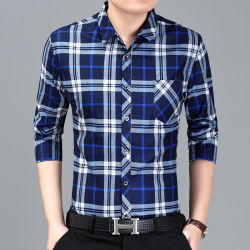 Fabrication de gros OEM Xxxl Bouton d'affaires décontractée coton personnalisé jusqu'Vérifier robe tee-shirts Hommes