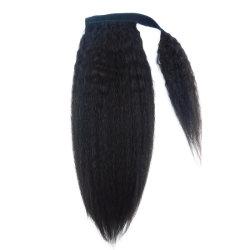 Di Yaki estensione nera naturale peruviana dei capelli umani del Ponytail 100% diritto