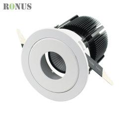 Ce distributeur RoHS UL aluminium réglable Spot à LED IP44 Dispositif d'éclairage 10/15/20W vers le bas de l'hôtel Plafonnier commerciale spotlight ampoule de feu de déflecteur de rafles