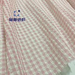 Ym2230 überprüft Seide wie Chiffon- Polyester-Gewebe auf Mädchen-Dame Dress