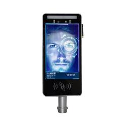 Controle de Acesso de reconhecimento facial binocular Thermal Sensor de Temperatura da câmara com termómetro de infravermelhos